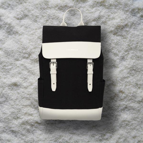 Svenklas Amber White Black Backpack