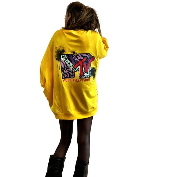 'I WANT MY MTV' Hand Painted Sweatshirt
