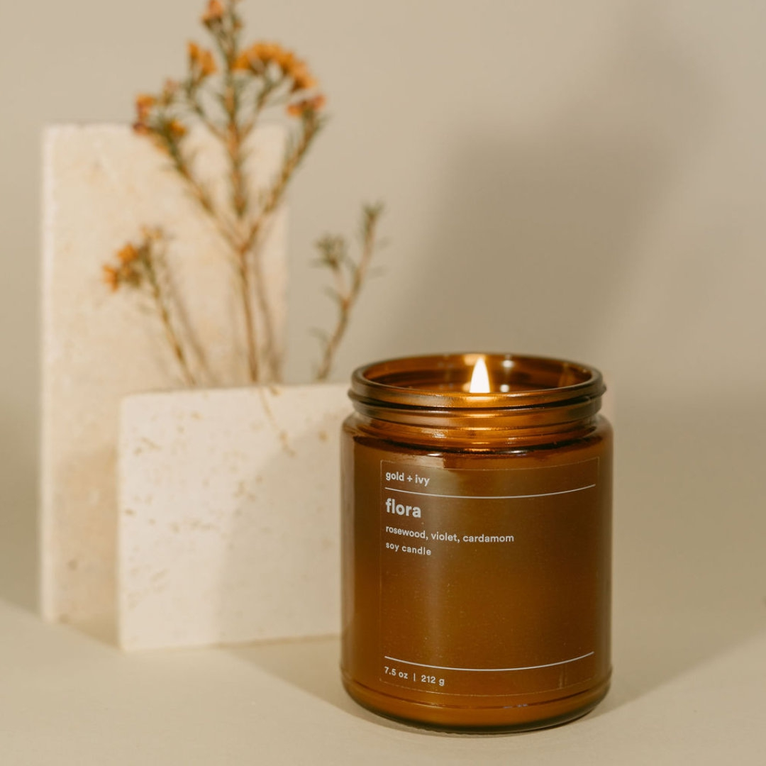 flora soy candle