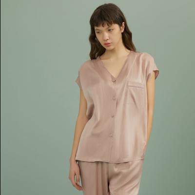 Boundless Silk Short Sleeve Sleep Shirt
