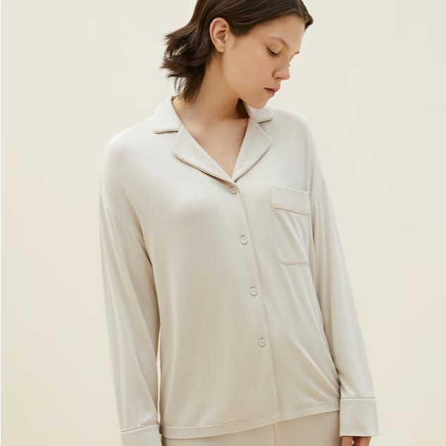 Classic Cozy Button-Up Pajama Top