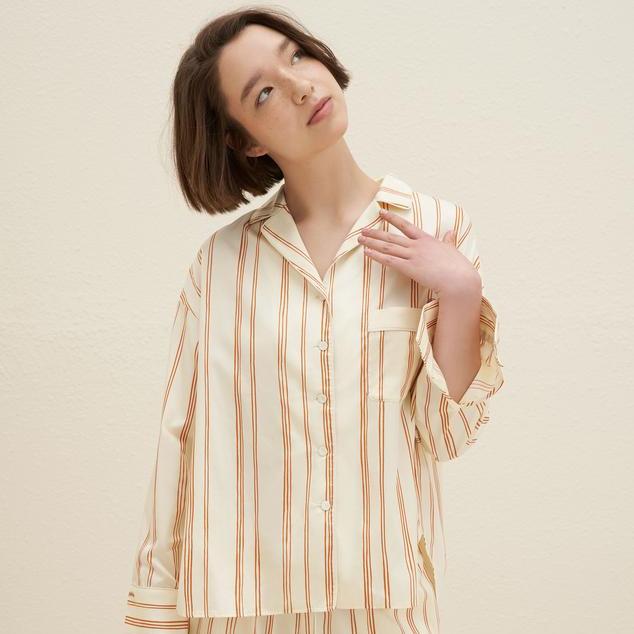Classic Embroidered Pajama Shirt