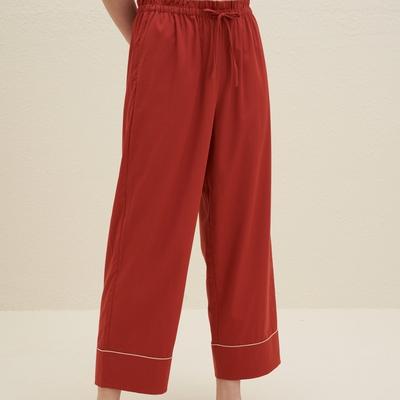 Embroidered Straight Leg Pajama Pants