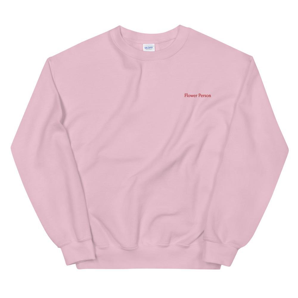 """Flower Person"" Embroidery Sweatshirt"