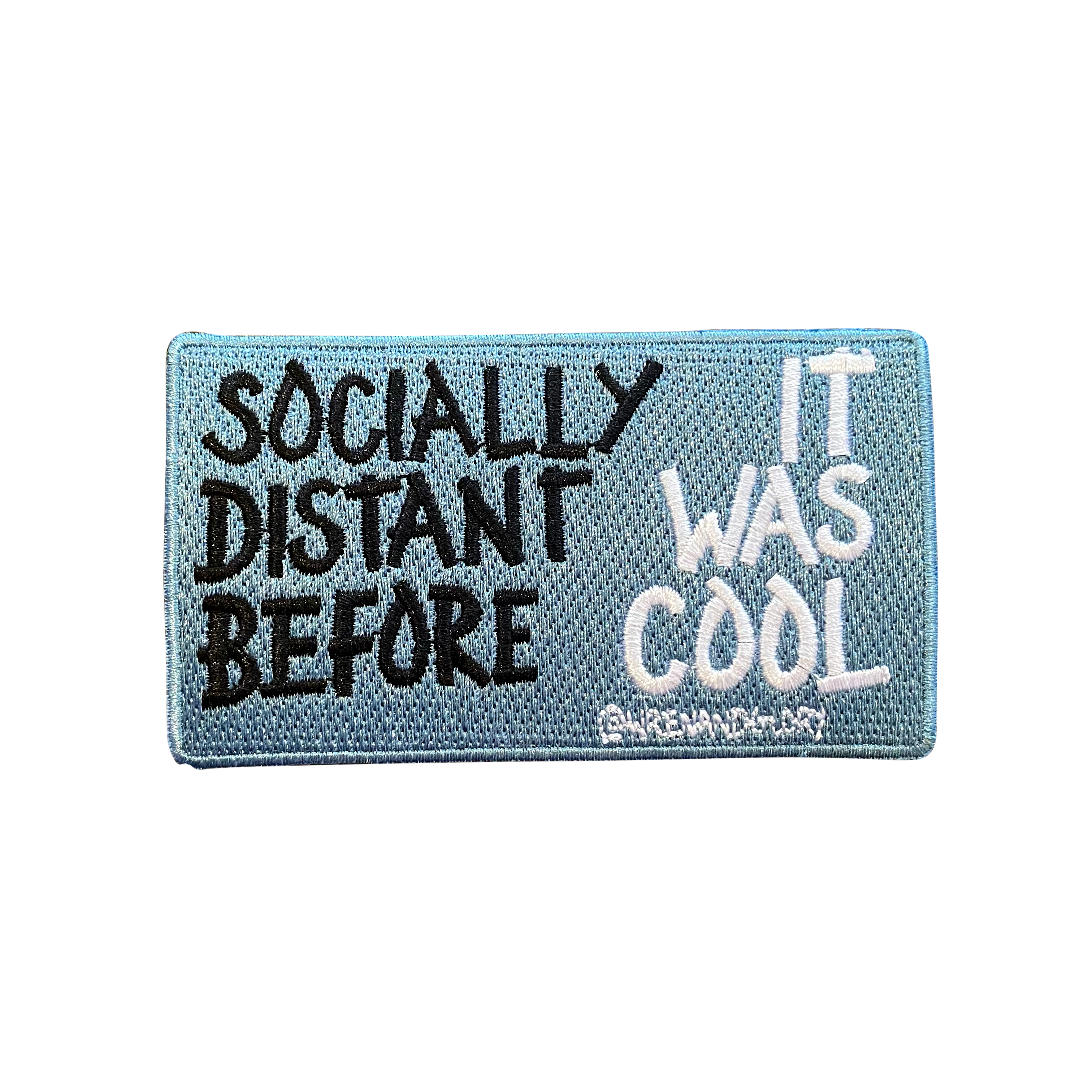 'Socially Distanced' Embroidered Patch