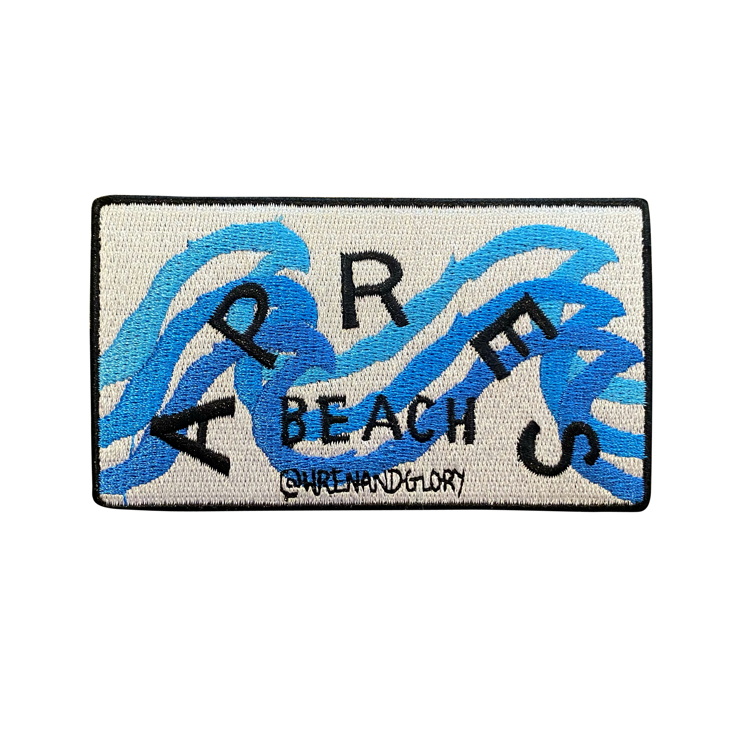'Apres Beach' Embroidered Patch