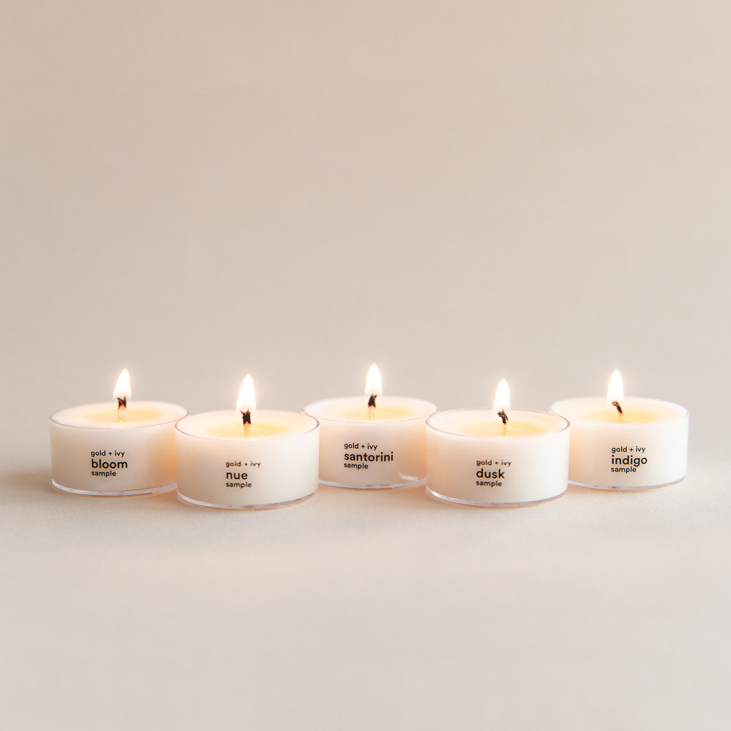 spring soy candle sample set