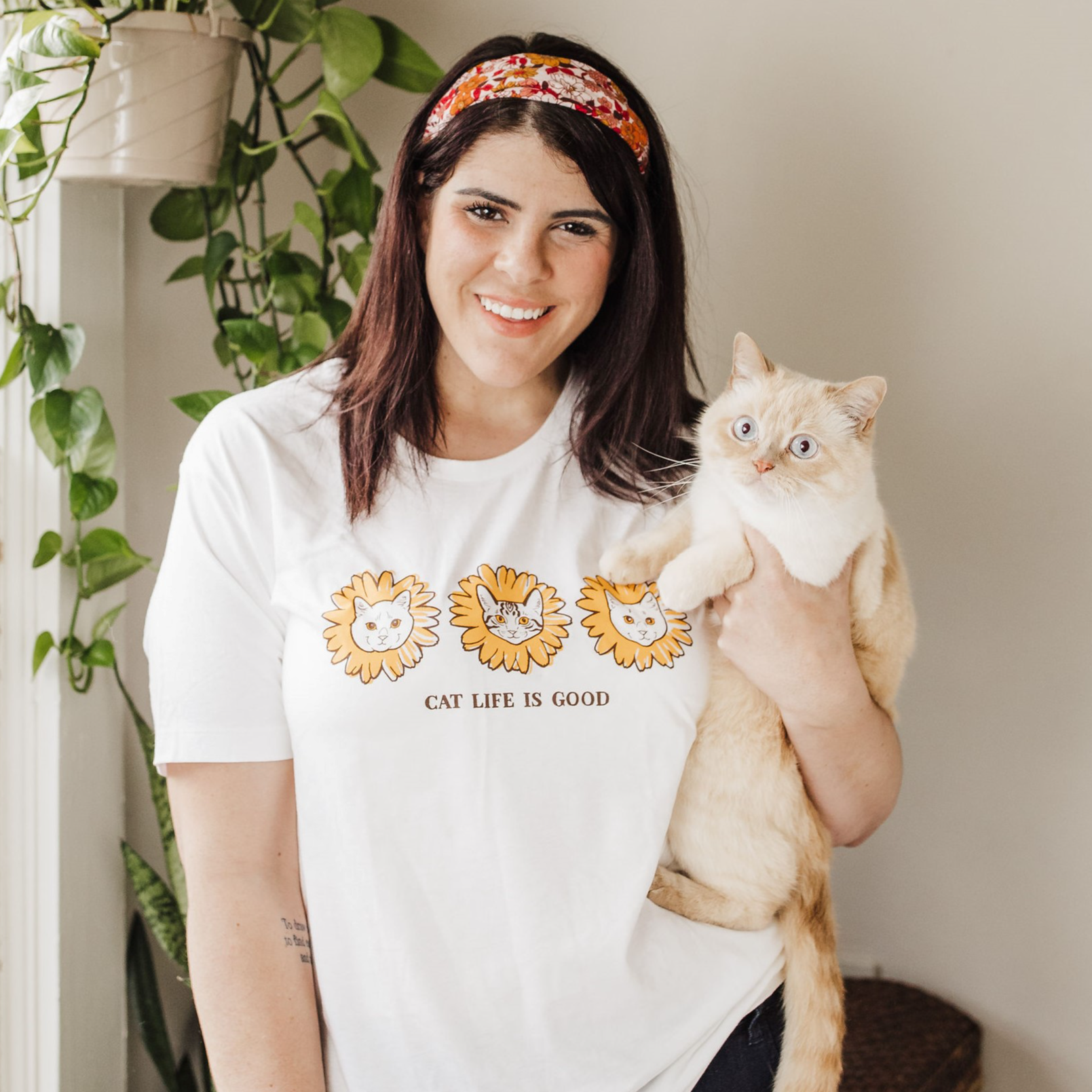 """""""Cat Life is Good"""" - Exclusive Limited Edition Cat Culture Unisex T-Shirt"""