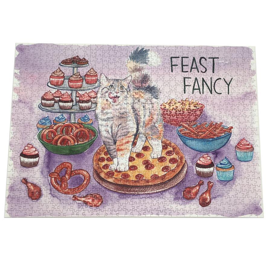 Feast Fancy 1,000 Piece Jigsaw Puzzle by Megan Kott