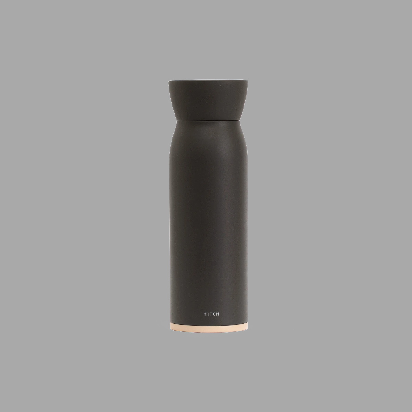Bottle and Cup in Charcoal Gray