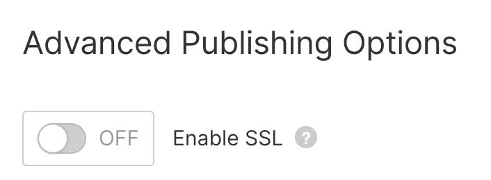 advanced publishing options