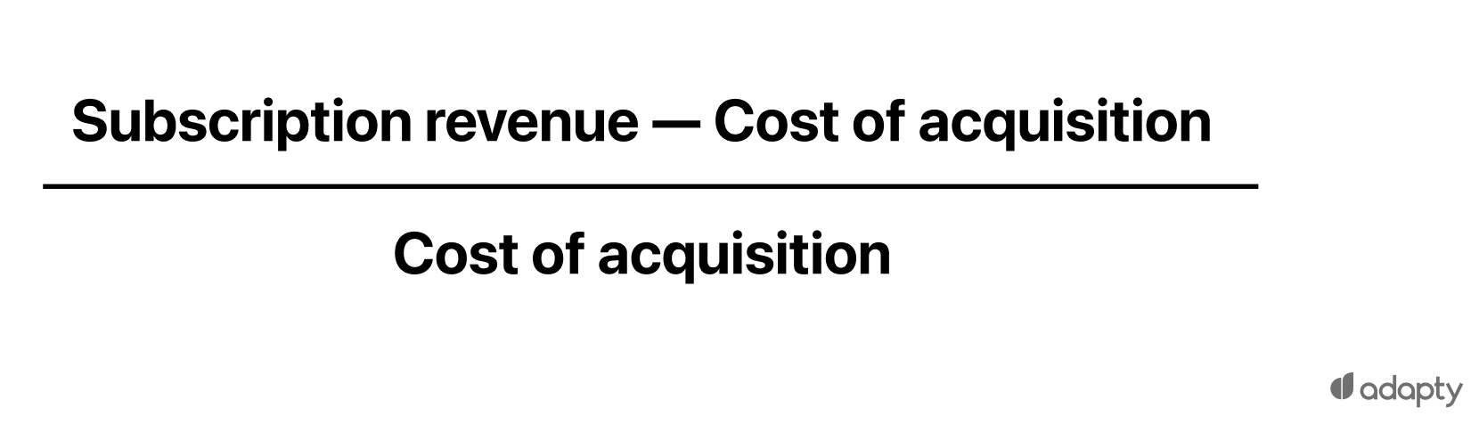 (Subscription revenue — Cost of acquisition) / (Cost of acquisition)
