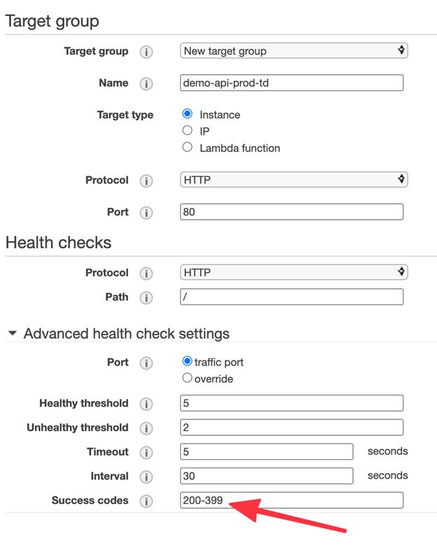 target group & health checks