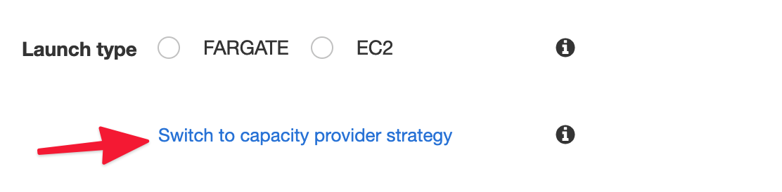 Switch to capacity provider strategy