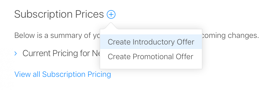 Create a subscription group in App Store Connect
