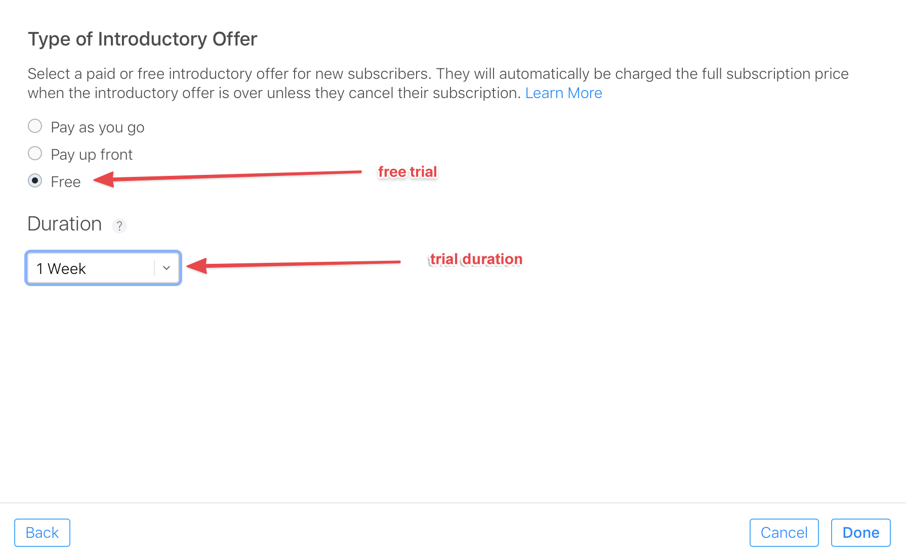 Create a subscription offer in App Store Connect