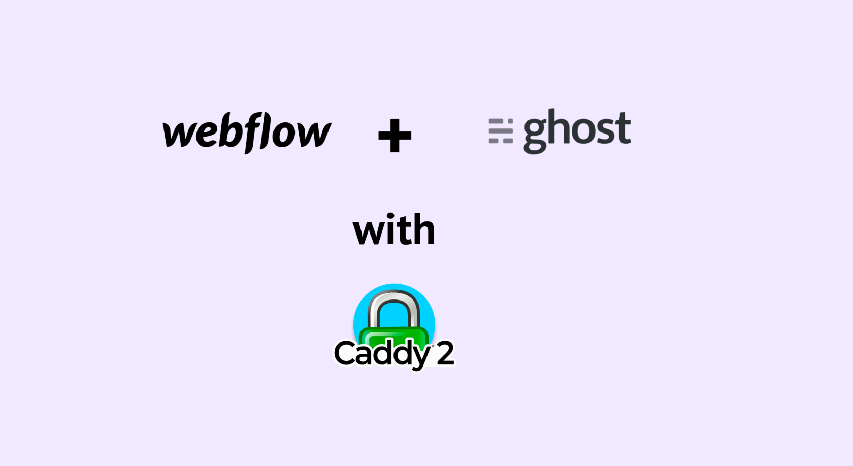 Webflow + selfserved Ghost blog with Caddy