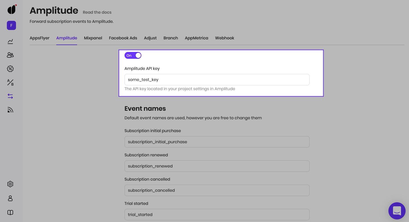 adapty integration settings