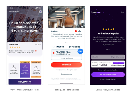 Examples of user reviews use