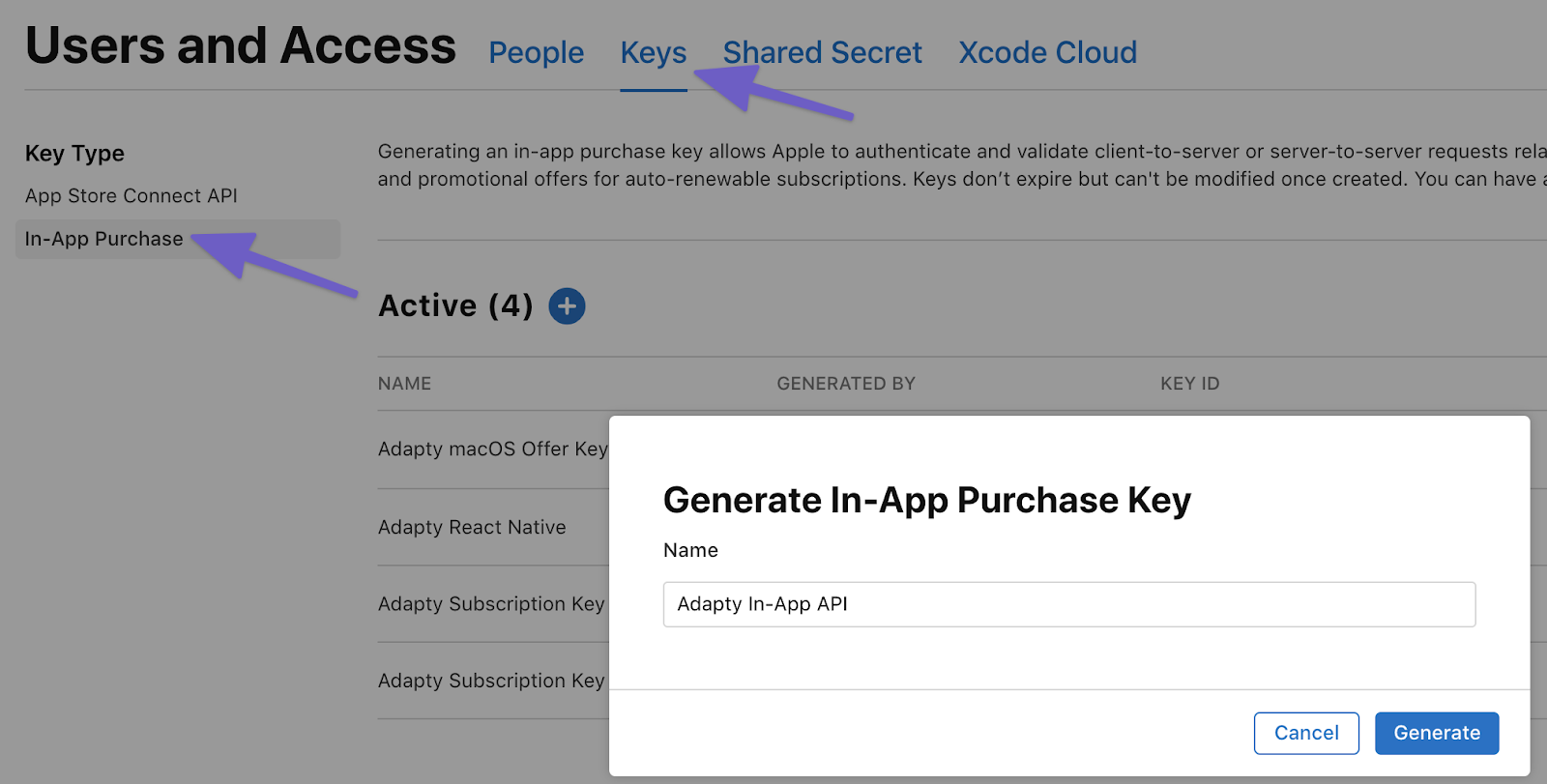 Creating a private key to work with StoreKit 2