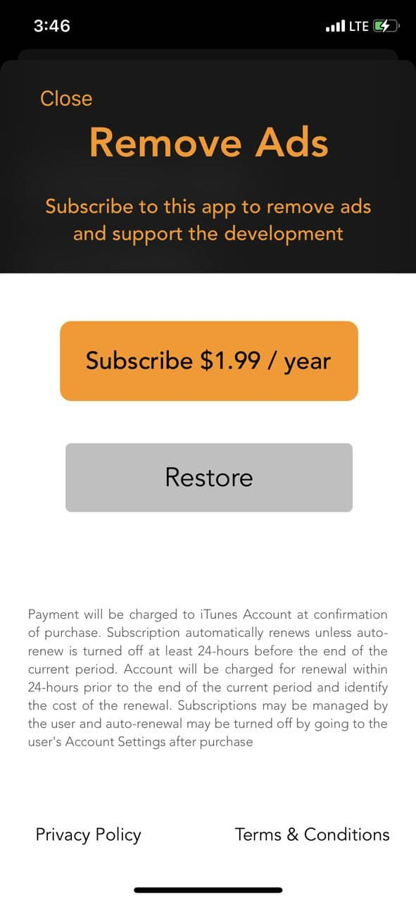 mobile paywall screen example for apps from Weather category – Moon & Sun: LunaSol