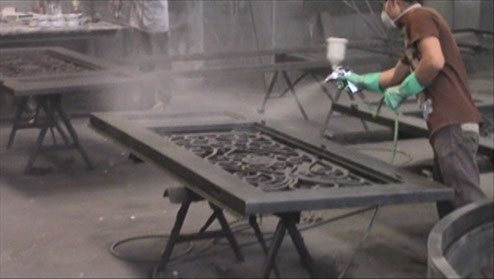 Amador Iron Works Hand Powder Coats All Of our hand made wrought iron doors