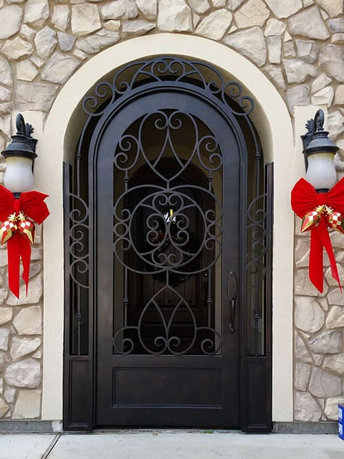Custom Iron Entry Gates in Houston Spring The Woodlands Conroe