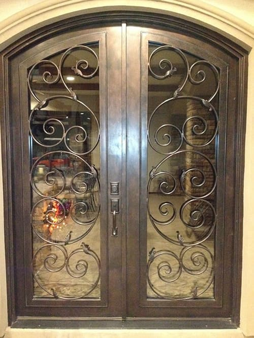 custom wrought iron double doors in houston spring the woodlands conroe