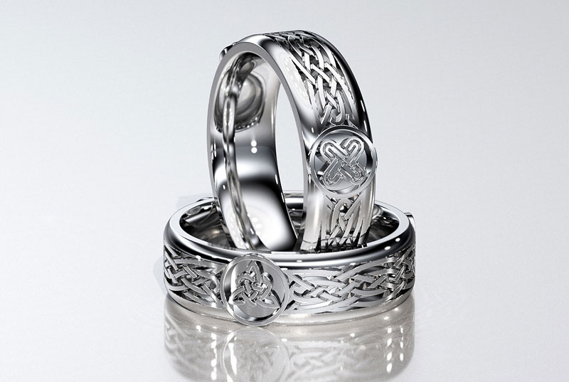 A celtic style masculine ring.