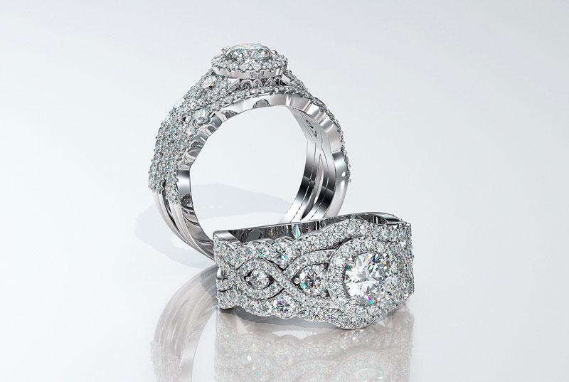 A brillant diamond ring.