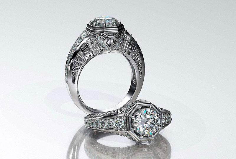 A beautiful vintage style ring.