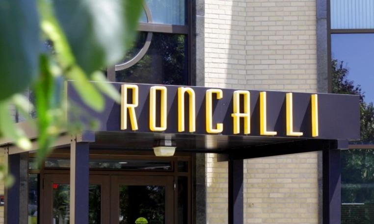 Roncalli school entrance sign