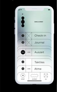 Ein Handy mit der relvio-App