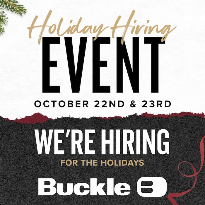 Holiday Hiring Event poster