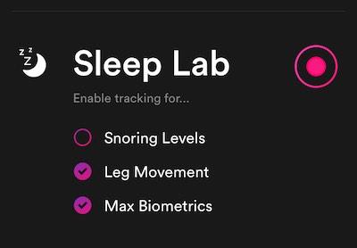 Sleep lab Recording Options