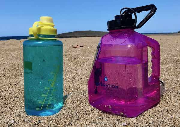 Water Jug and 32 ounce water bottle