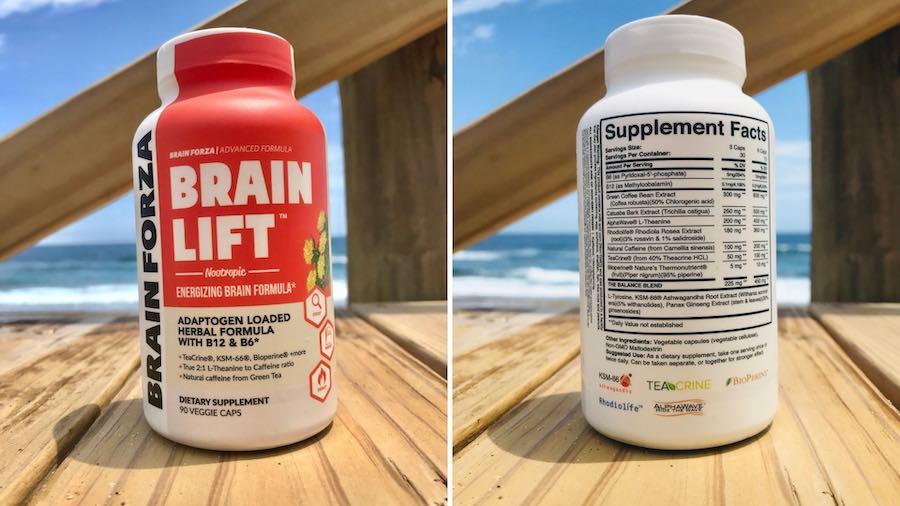 Brain forza Brain lift supplement bottle