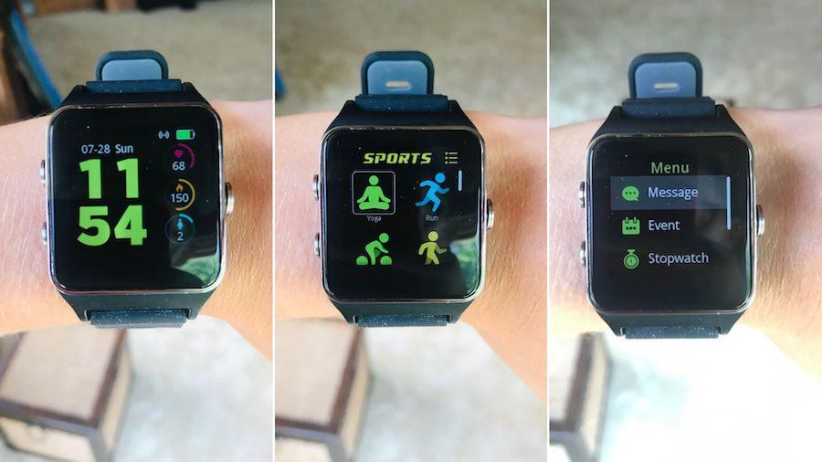 screen options on the Morepro GPS smartwatch