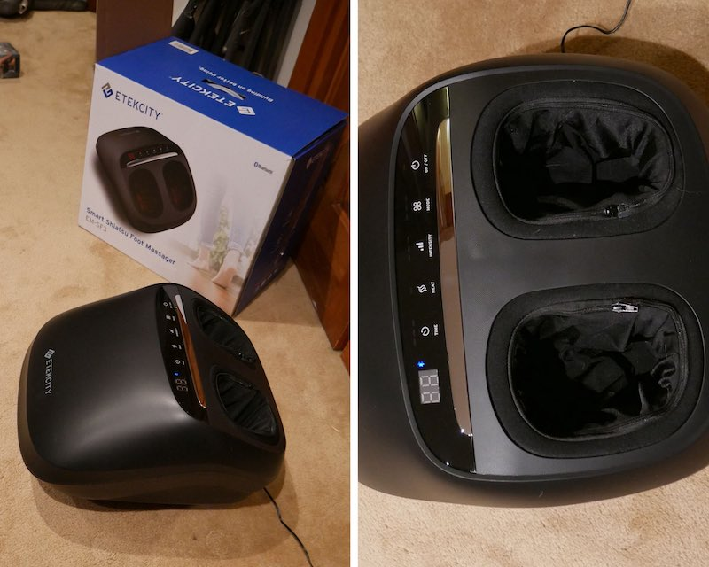 Foot Massager display panel and exterior design