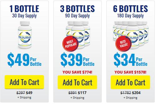 Resurge Supplements pricing