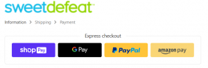 fast payment options for sweet defeat checkout