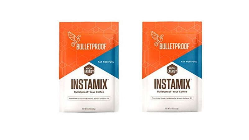 two packets of bulletproof inta mix coffee