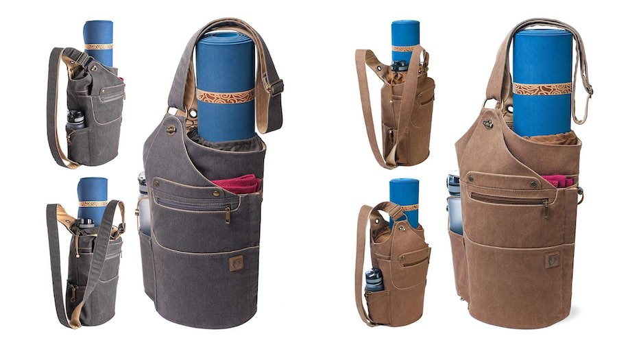Two color styles of the convertible yoga backback