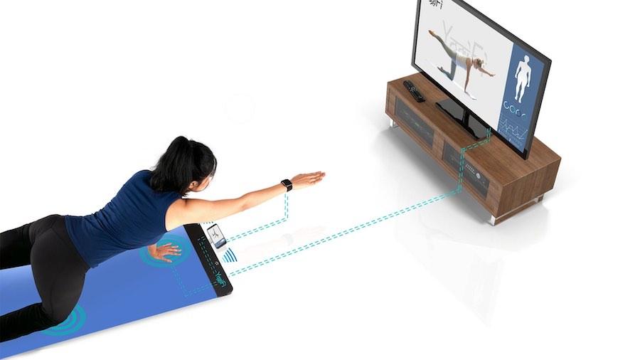 YogiFi mat and tv instructions