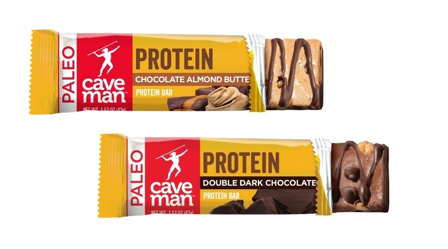 Two Caveman protein bars.