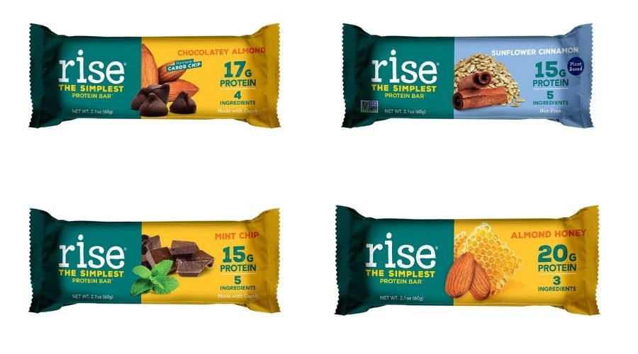 Four Rise Bar protein bars.