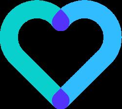 Icône d'un cœur qui symbolise l'accompagnement du lab2e