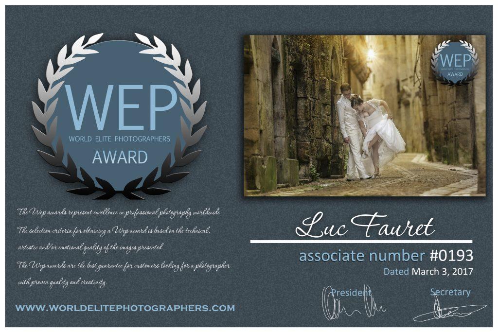 Prix d'excellence WEP 2017
