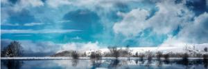 Photo paysage lac et campagne
