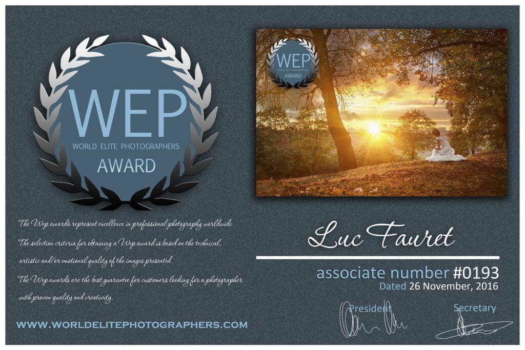 Prix d'excellence WEP 2016